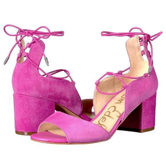 999cf893152 SAM EDELMAN SERENE BLOCK HEEL SANDALS - HOT PINK